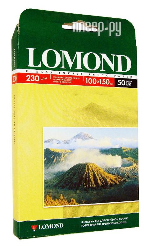 Фотобумага Lomond 100x150mm 230g/m2 глянцевая одностороняя 102035 цена