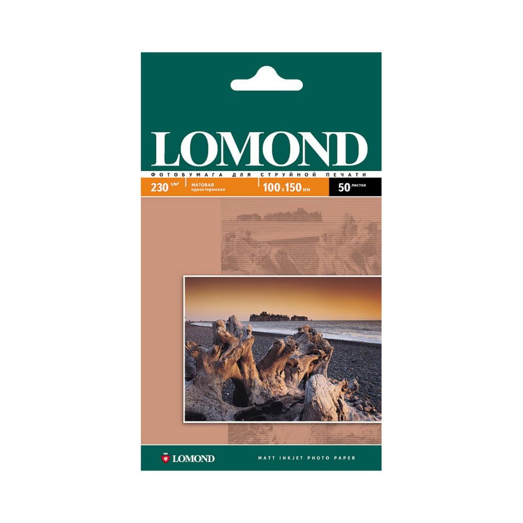 Фотобумага Lomond 100x150mm 230g/m2 матовая одностороняя 102034