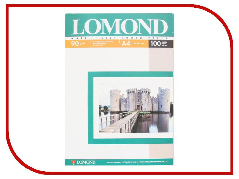 Фотобумага Lomond 0102001 матовая 90g/m2 A4 одностороняя lomond 0102050 lomond