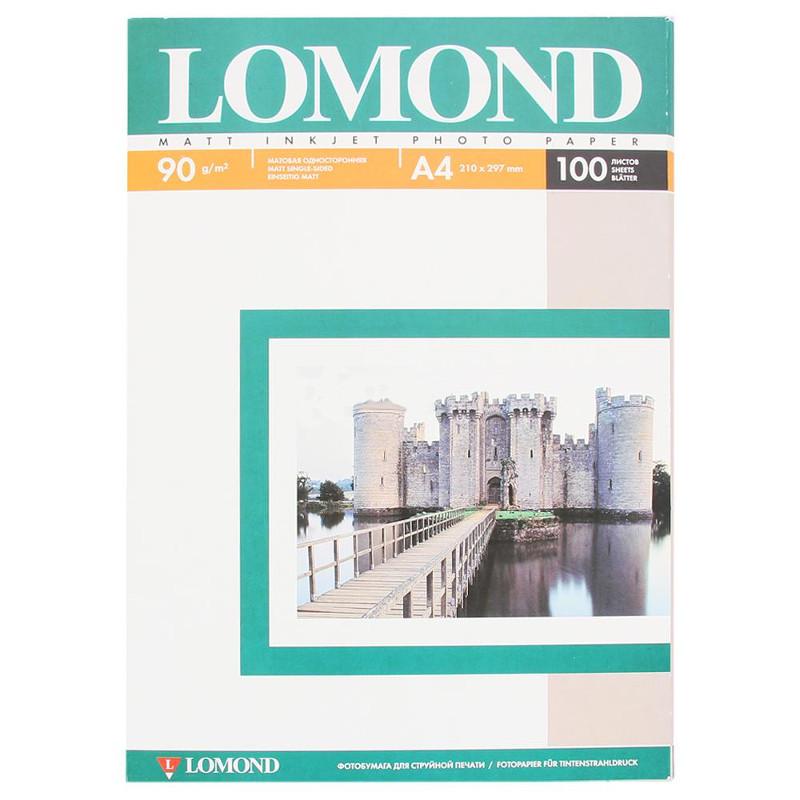 Фотобумага Lomond A4 90g/m2 матовая одностороняя 102001