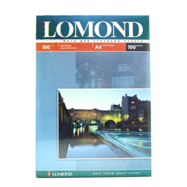 Фотобумага Lomond A4 160g/m2 матовая одностороняя 102005