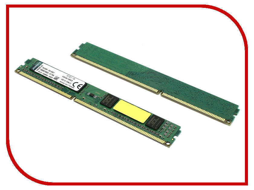 Модуль памяти Kingston DDR3 DIMM 1600MHz PC3-12800 - 8Gb KIT (2x4Gb) KVR16N11S8K2/8<br>