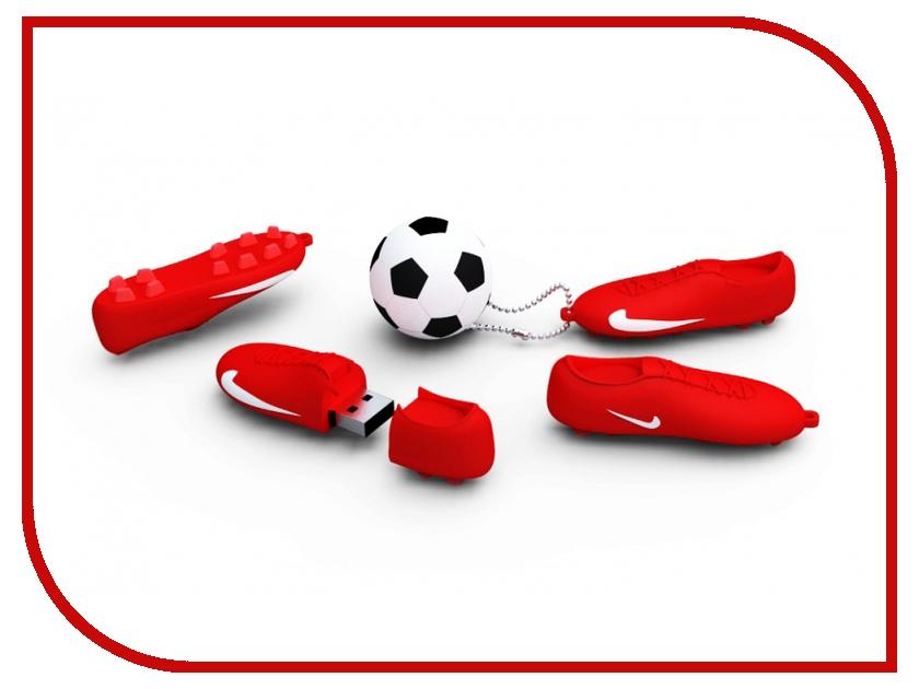 USB Flash Drive 8Gb - Iconik Футбол Red-White RB-FTBRW-8GB<br>