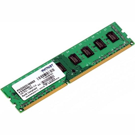 Модуль памяти Patriot Memory DDR3 DIMM 1600MHz PC3-12800 - 2Gb PSD32G16002 / 81