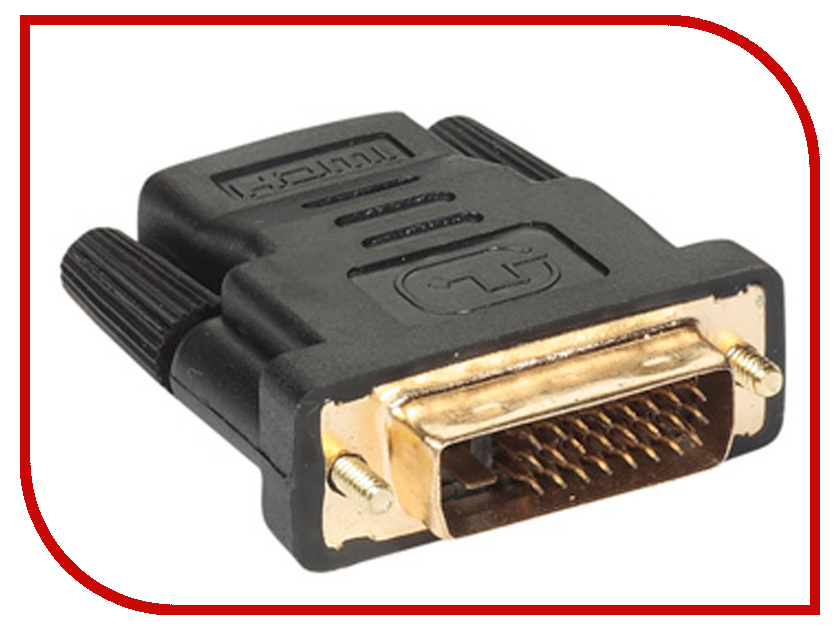Аксессуар VCOM HDMI 19F to DVI-D 25M VAD7818 samzhe hdmi to dvi cable 2m 3m 5m hdmi male to dvi male 18 1 pin cable adapter support 1080p for hdtv projectors pc