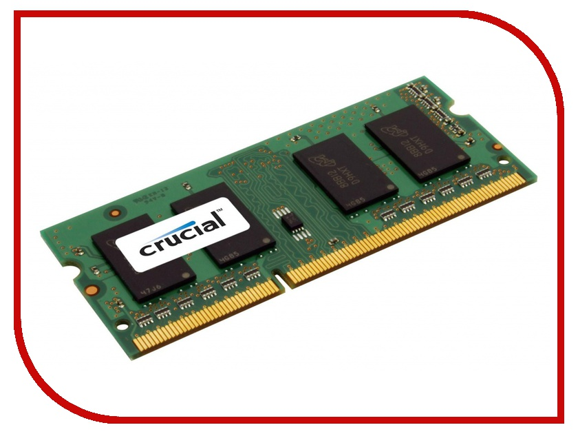 Модуль памяти Crucial DDR3L SO-DIMM 1600MHz PC3-12800 CL11 - 2Gb CT25664BF160B модуль памяти crucial ddr3l so dimm 1600mhz pc3 12800 cl11 2gb ct25664bf160bj