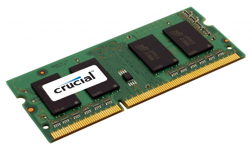 Модуль памяти Crucial DDR3L SO-DIMM 1600MHz PC3-12800 CL11 - 2Gb CT25664BF160B модуль памяти crucial ballistix tactical ddr3 dimm 1600mhz pc3 12800 cl8 8gb kit 2x4gb blt2cp4g3d1608dt1tx0ceu