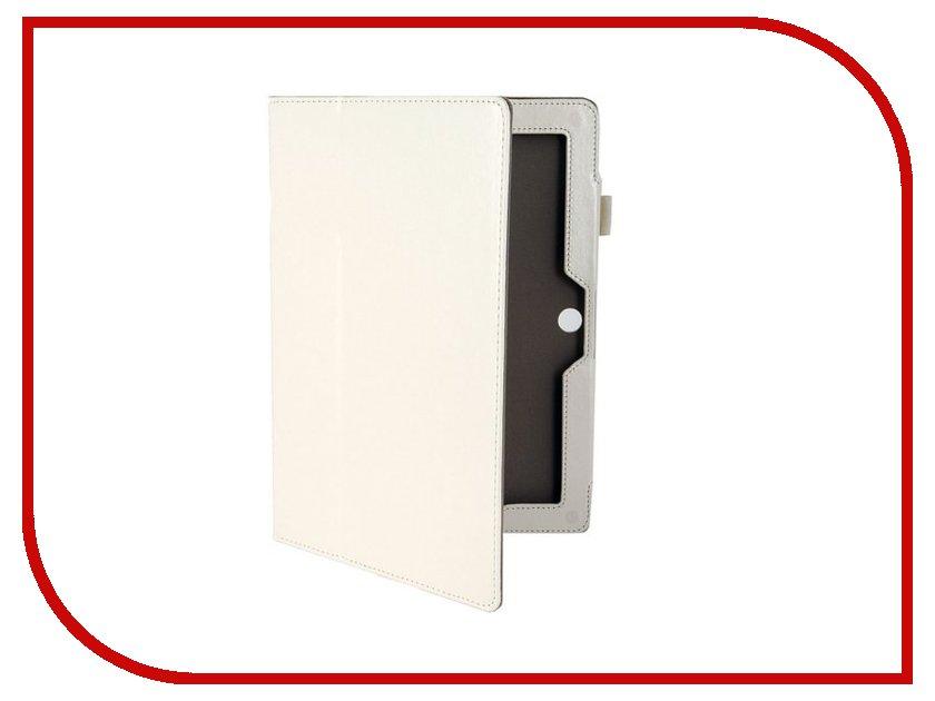 все цены на  Аксессуар Чехол ASUS MeMO Pad HD 10 ME302 Ainy кожаный White BB-Ab175  онлайн