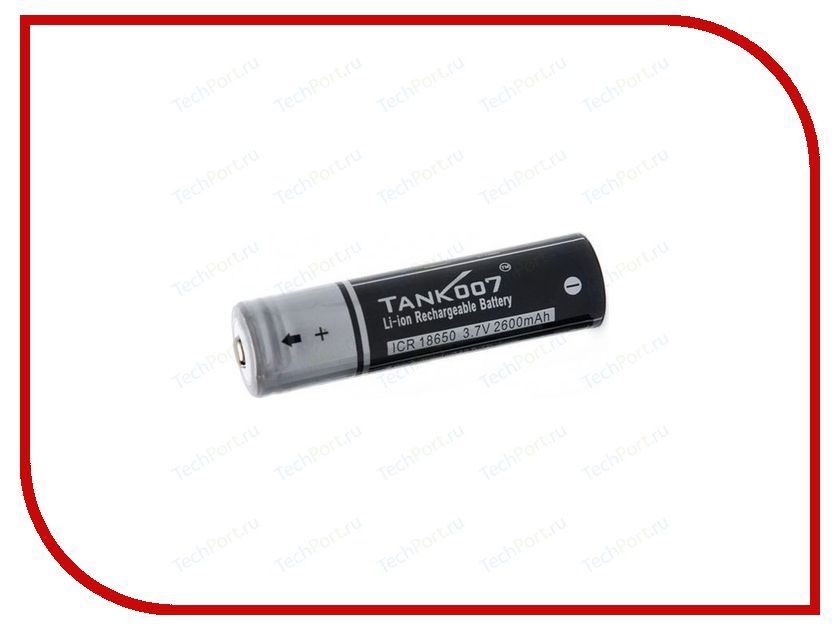 Аккумулятор Tank007 18650-007 3.7V 2600 mAh cheap 2pcs 100% new original 18650 3 7v 3000mah 18650 lithium rechargeable battery for led torch flashlight batteries