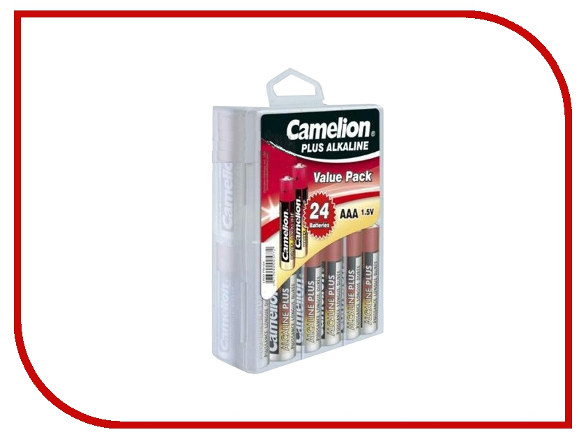 Батарейка AAA - Camelion Alkaline Plus LR03 LR03-PB24 (24 штуки) батарейка aaa camelion blue r03 r03p bp4b 4 штуки