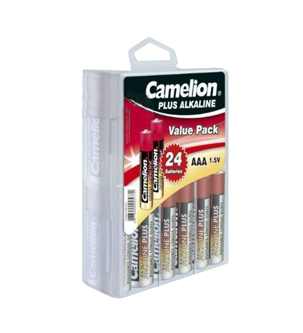 Батарейка AAA - Camelion Alkaline Plus LR03 LR03-PB24 (24 штуки)