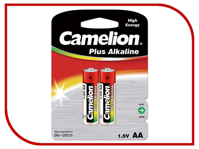 Батарейка AA - Camelion Alkaline Plus LR6 LR6-BP2 (2 штуки)<br>