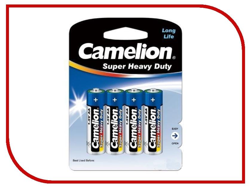 Батарейка AA - Camelion Blue R6 R6P-BP4B (4 штуки) батарейка aaa camelion blue r03 r03p bp4b 4 штуки