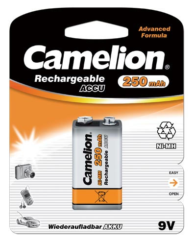 Аккумулятор КРОНА Camelion NH-9V250BP1 9V 250 mAh Ni-MH