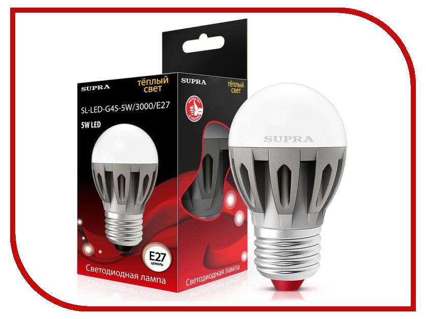Лампочка SUPRA SL-LED-G45-5W/3000/E27<br>