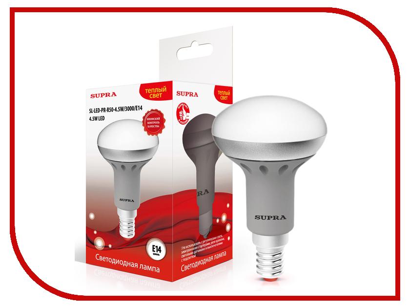 Лампочка SUPRA SL-LED-PR-R50-4.5W/3000/E14