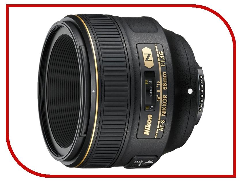 Объектив Nikon Nikkor AF-S 58 mm F/1.4 G lacywear s 58 iwa