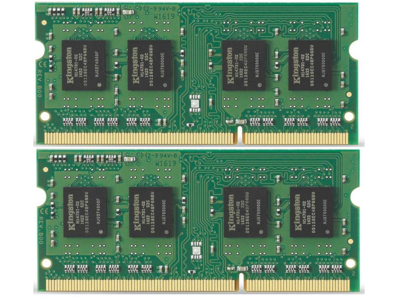 Модуль памяти Kingston PC3-10600 SO-DIMM DDR3 1333MHz - 8Gb KIT (2x4Gb) KVR13S9S8K2/8 CL9 оперативная память 2gb 1x2gb pc3 10600 1333mhz ddr3 dimm cl9 foxline fl1333d3u9s1 2g