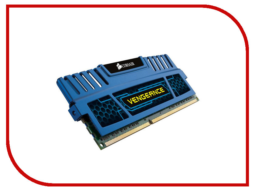 Модуль памяти Corsair Vengeance DDR3 DIMM 1600MHz PC3-12800 CL9 - 4Gb CMZ4GX3M1A1600C9B модуль памяти hp 16gb 2rx4 pc3 12800r 11 kit 672631 b21
