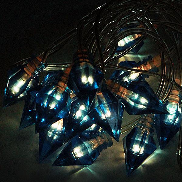 Гирлянда ламповая SnowHouse Льдинки BLD020W-BR