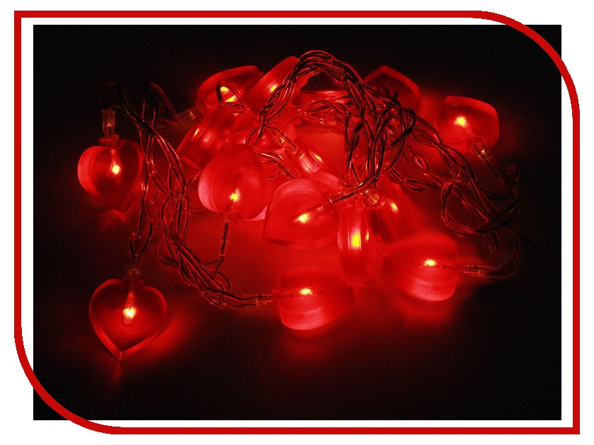 Гирлянда Гирлянда ламповая SnowHouse Сердечки BLD020W-HT