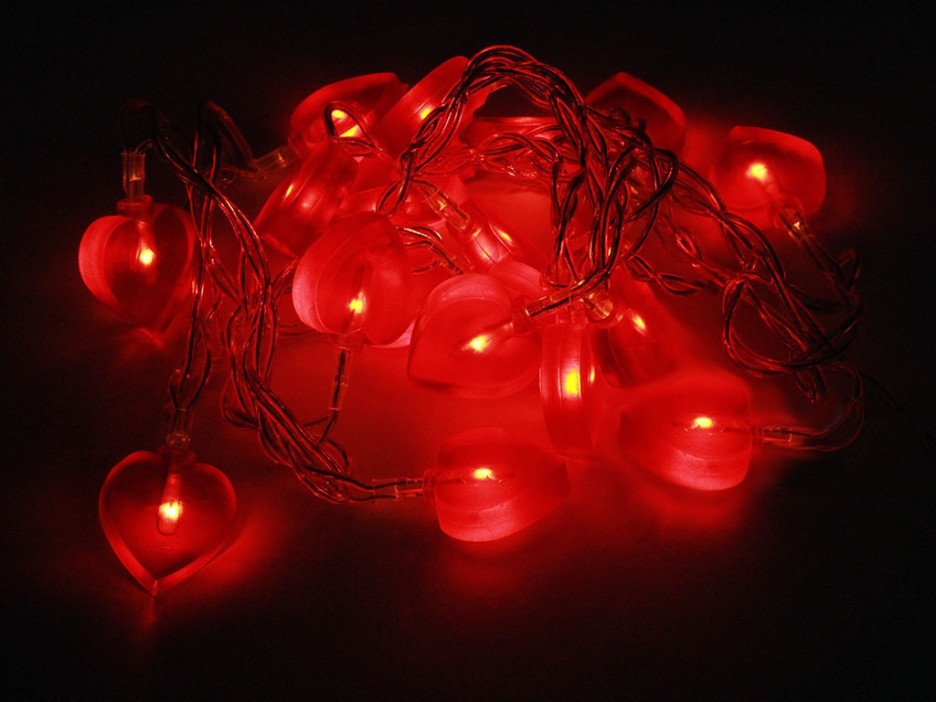 Гирлянда ламповая SnowHouse Сердечки BLD020W-HT