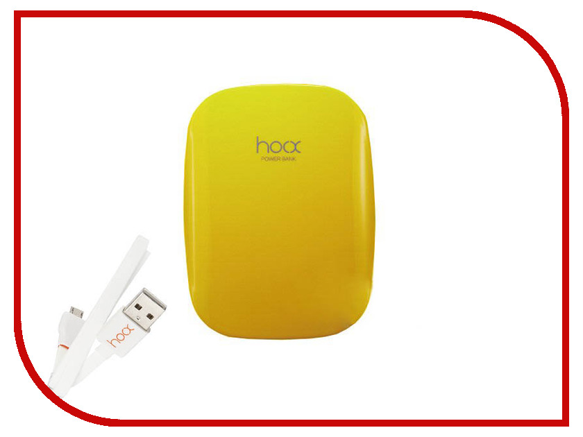 Аккумулятор Hoox Magic Stone 6000 mAh Yellow HO-MG6000-Y