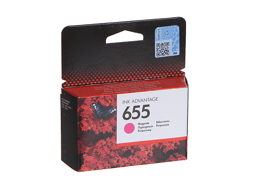 Картридж HP 655 Ink Advantage CZ111AE Magenta для 3525/5525/4525