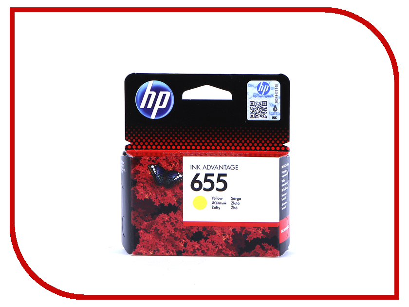 Картридж HP 655 Ink Advantage CZ112AE Yellow для 3525/5525/4525 hp 655 cz112ae