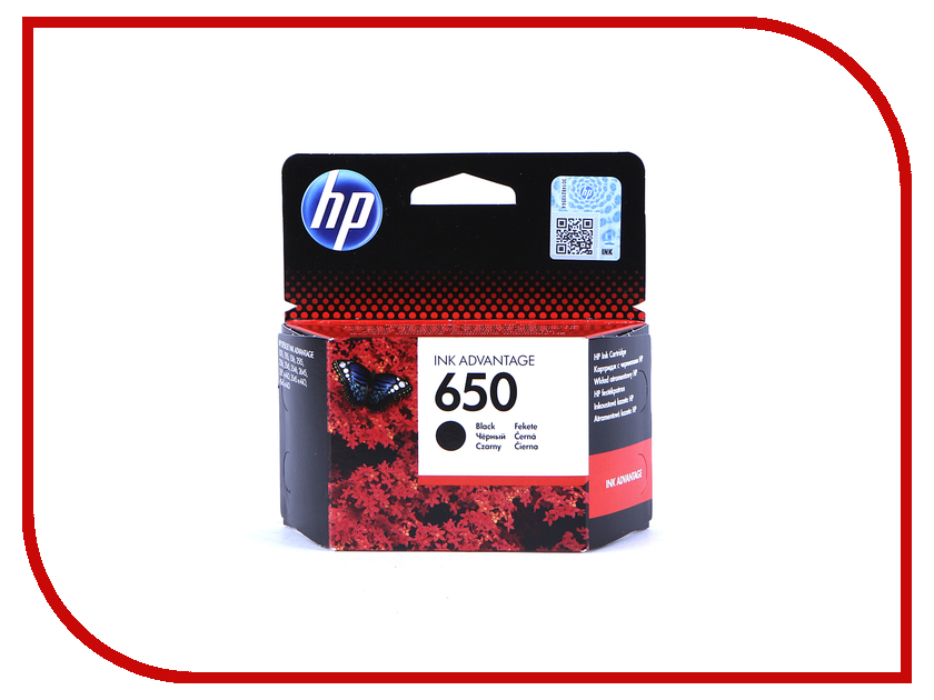 Картридж HP 650 Ink Advantage CZ101AE Black для 2515 / 2516 / 3515 / 3516 картридж для принтера hp cz101ae 650 black ink cartridge