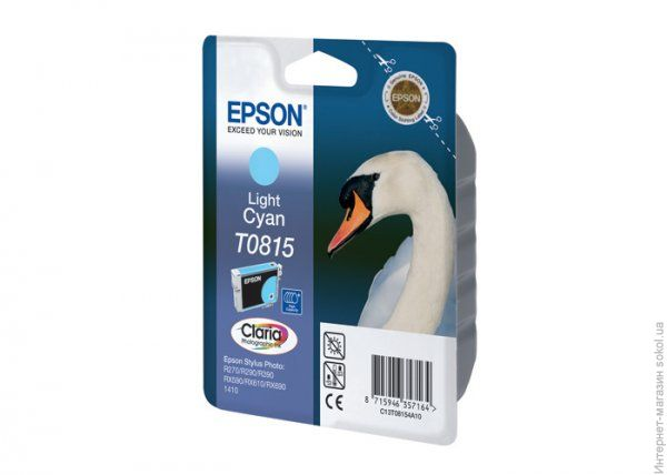 Аксессуар Epson T0815 C13T11154A10 Light Cyan для R270/R290/R390/RX590/RX610/RX690/1410
