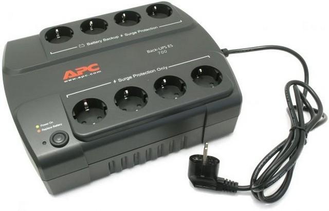 Источник бесперебойного питания APC Back-UPS ES 700VA 405W BE700G-RS ибп apc be700g rs power saving back ups es 8 outlet 700va 405w