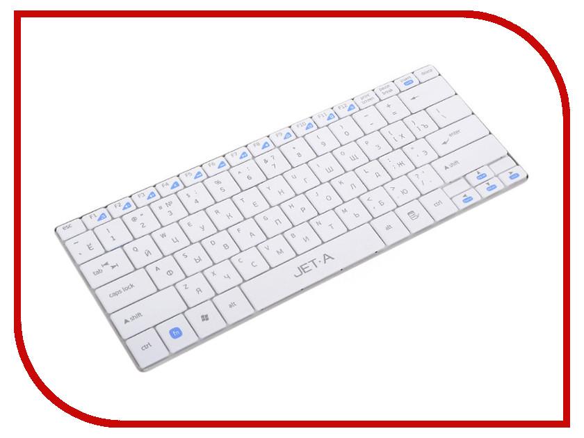 Клавиатура беспроводная Jet.A SlimLine K7 W White