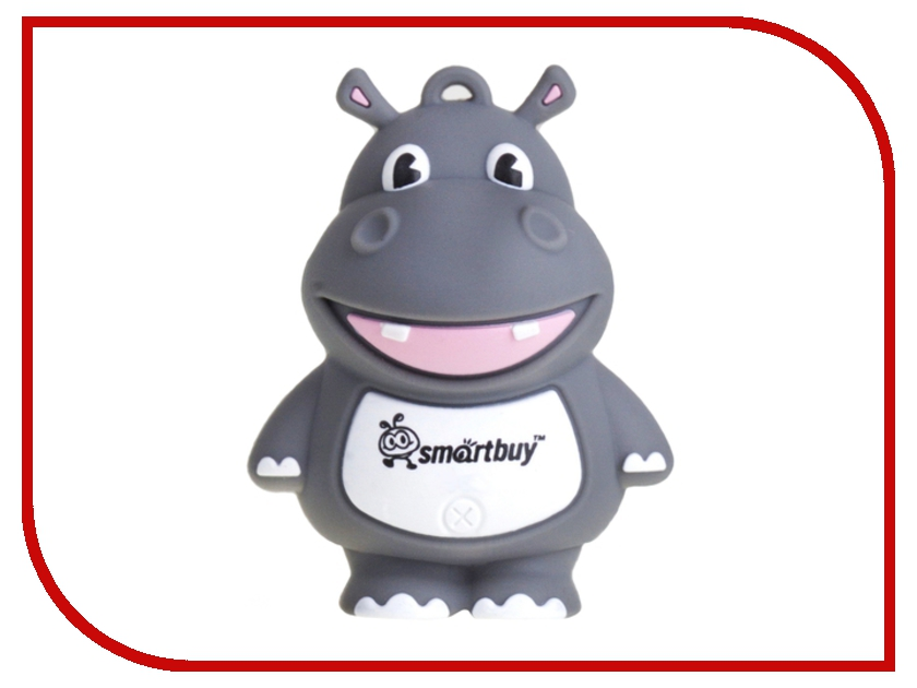 USB Flash Drive 16Gb - Smartbuy Wild Hippo SB16GBHip usb flash drive 8gb smartbuy wild dog grey sb8gbdgr