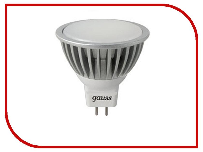 Лампочка Gauss LED MR16 4W GU5.3 AC/DC 12V 4100K FROST EB201505204<br>