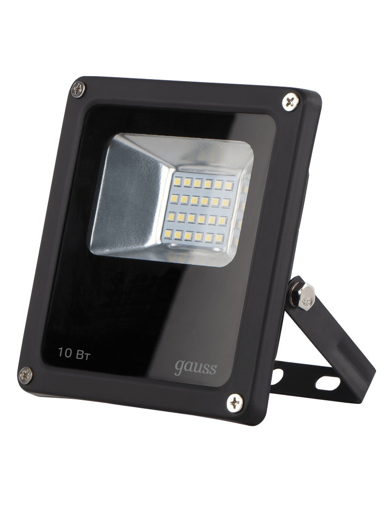 Прожектор Gauss LED 10W IP65 6500К Black 613100310