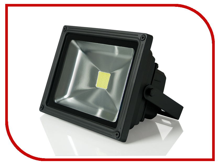 Прожектор Gauss LED 20W COB IP65 6500К Black FL613100320 20w high power led ultra violet uv light chip 365nm 370nm 380nm 385nm 395 405nm 420nm 425nm diy cob light source epileds 42mil