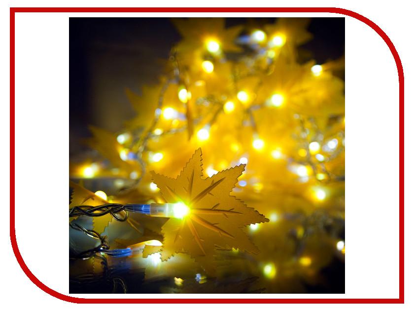 Гирлянда Gauss Кленовые листья 50 светодиодов 5m AC220-240V PH719013803 Yellow