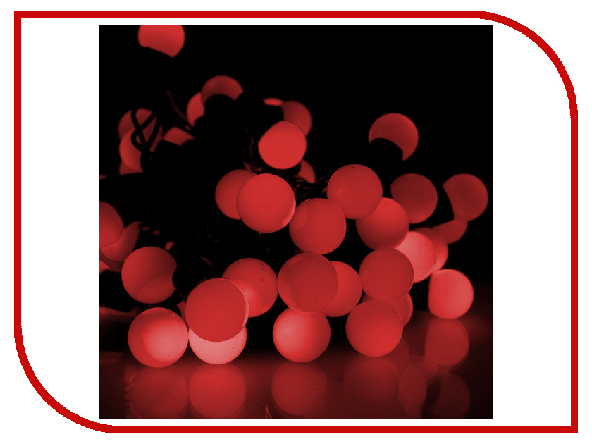 Гирлянда Gauss Шарики 50 светодиодов 5m AC220-240V PH716013703 Red<br>