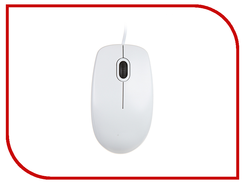 Мышь проводная Logitech B100 USB White 910-003360