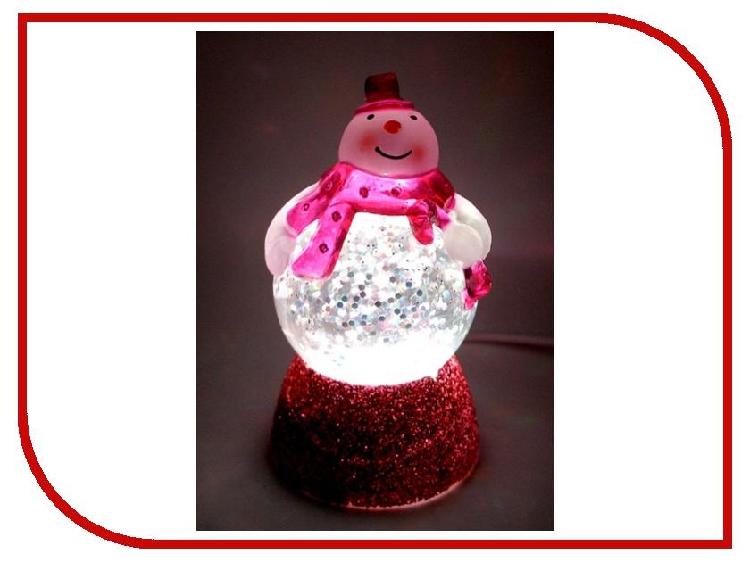 Новогодний сувенир Снеговичок-толстячок Orient NY6010 Pink<br>