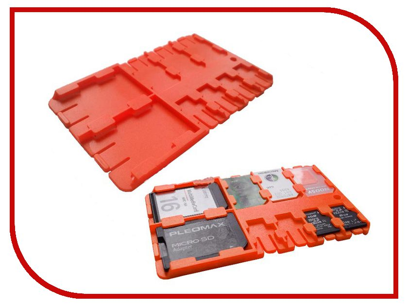Футляр REFI Holder SD / microSD / SIM Orange raston bicycle carbon plastic water bottle holder cage orange