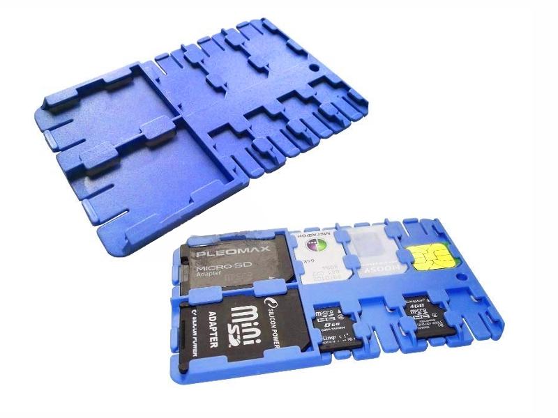 Футляр REFI Holder SD / microSD SIM Blue