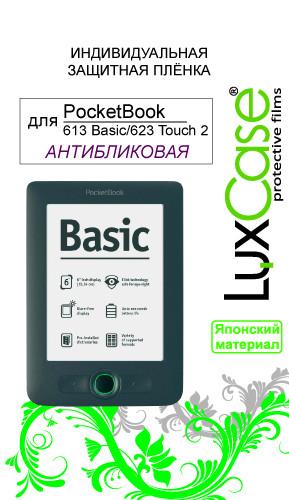 Аксессуар Защитная пленка PocketBook 613 Basic/623 Touch 2 LuxCase антибликовая 50652