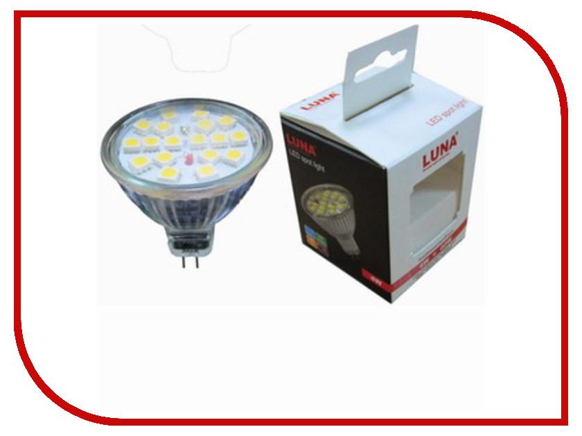 Лампочка LUNA LED MR16 5.5W 3000K GU5.3 220V 60303<br>