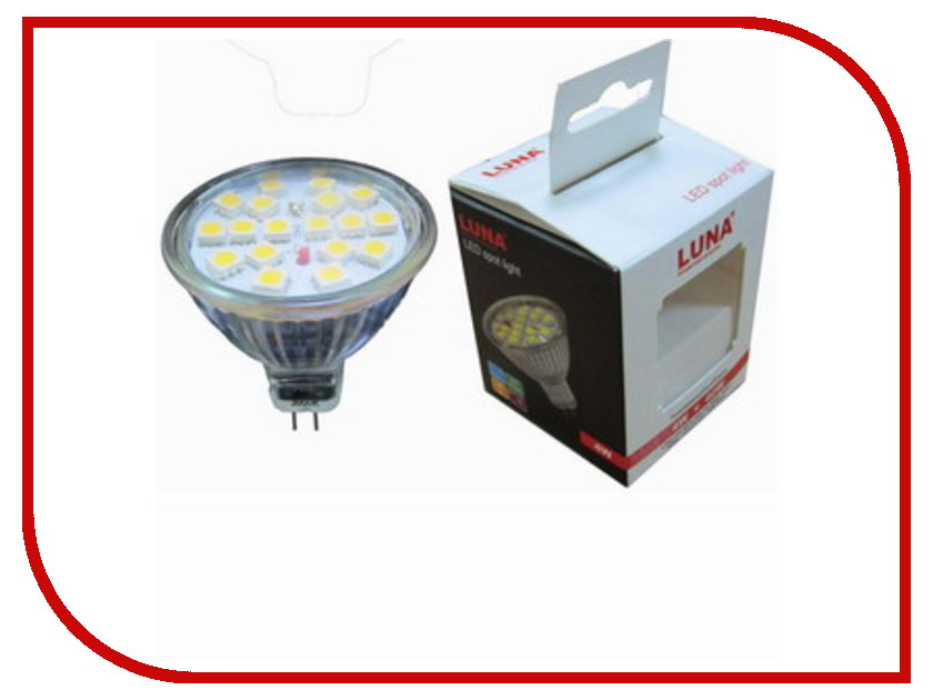 Лампочка LUNA LED MR16 5.5W 4000K GU5.3 220V 60304<br>