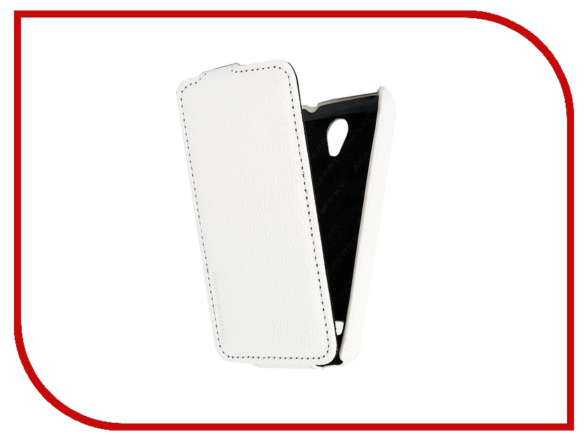 Аксессуар Чехол Huawei Ascend G330 Aksberry кожаный White