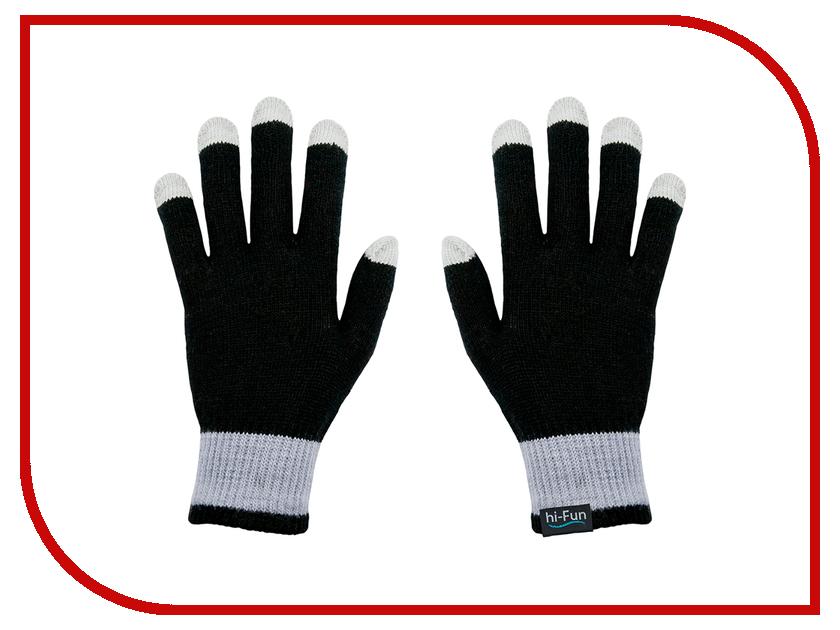 Теплые перчатки для сенсорных дисплеев Hi-Fun Hi-Glove Man Black<br>