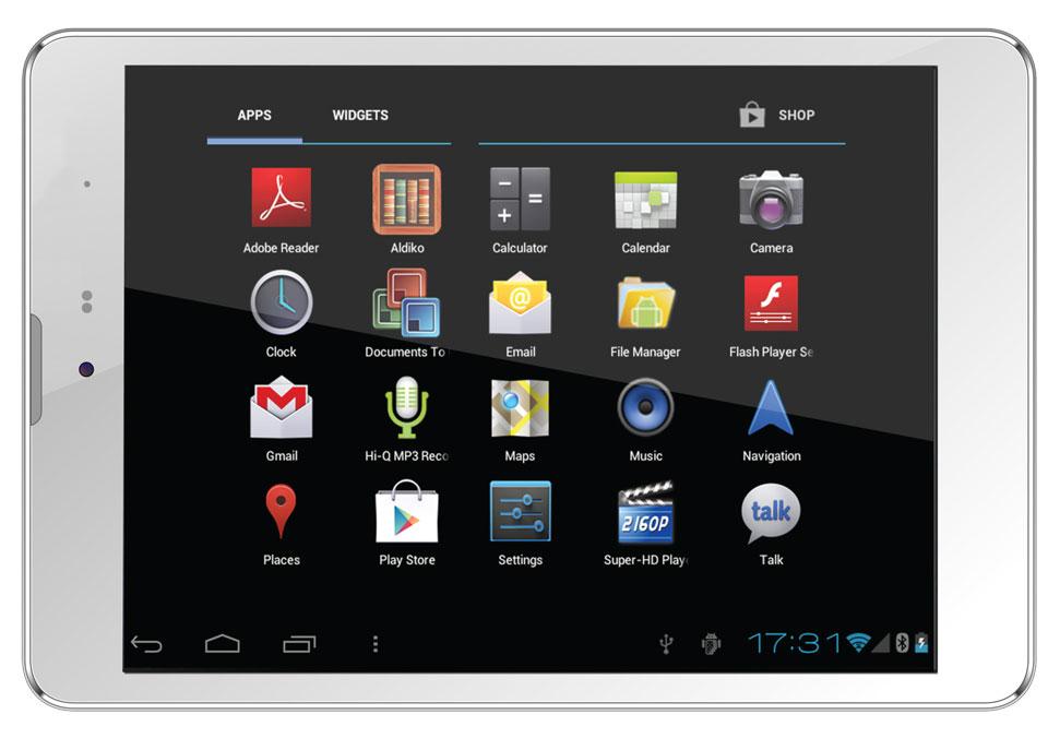 Планшет SUPRA M845G White-Silver MediaTek MT8389 Quad Core 1.2 GHz/1024Mb/16Gb/Wi-Fi/3G/Bluetooth/Cam/7.85/1024x768/Android<br>