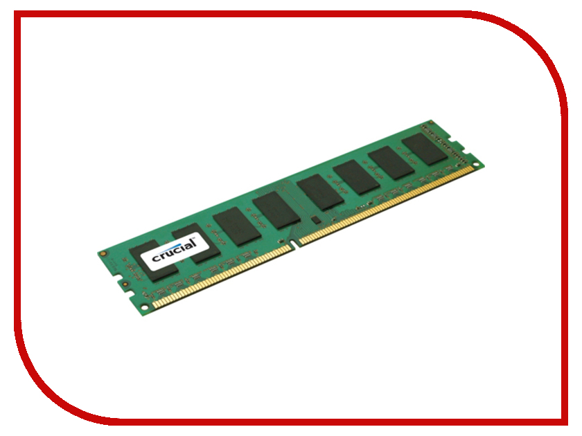 Модуль памяти Crucial DDR3 DIMM 1600MHz PC3-12800 - 2Gb CT25664BA160B модуль памяти crucial ddr3l so dimm 1600mhz pc3 12800 cl11 2gb ct25664bf160bj